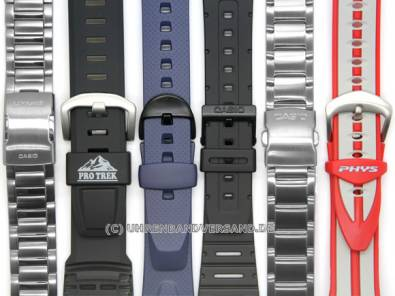 CASIO- replacement strap 18mm black synthetic (09521081) for DW-5000, DW-5200, DW-5400, DW-5600B - Bild vergrößern