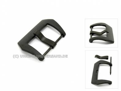 Large Buckle (HeBD-2016) suitable for Panerai stainless steel 22mm black matt finish - Bild vergrößern