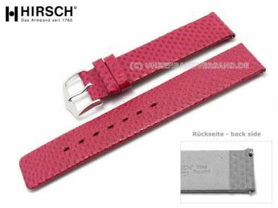 Watch band -Aqualino- 20mm pink water snake easy change from HIRSCH (width of buckle 20 mm) - Bild vergrößern