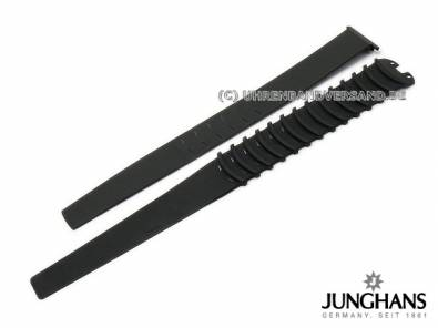 Replacement silicone inlay JUNGHANS black 2 piece for ceramic watch strap 018/1614, 018/1613 etc. - Bild vergrößern
