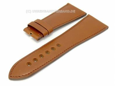 Watch band for Cartier 29mm brown smooth surface - Bild vergrößern