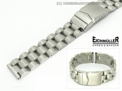 Watch band 22mm solid stainless steel matt from Eichmueller - Bild vergrößern