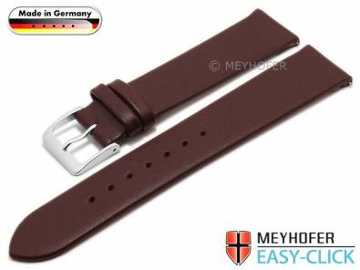 Meyhofer EASY-CLICK watch strap XS -Weser- 16mm bordeaux leather smooth without stitching (width of buckle 16 mm) - Bild vergrößern