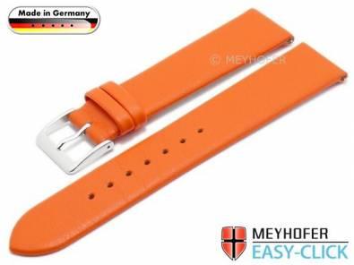 Meyhofer EASY-CLICK watch strap XS -Weser- 18mm orange leather smooth without stitching (width of buckle 18 mm) - Bild vergrößern