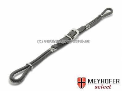 Cordette watch strap -Dori- grey leather smooth silver buckle by Meyhofer - Bild vergrößern