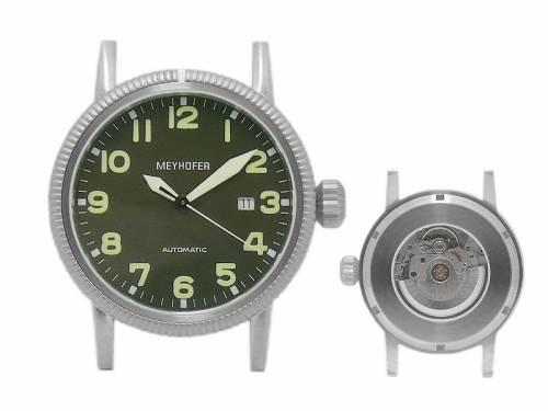 Exklusive Automatik-Herrenuhr -Oranienburg- Ziffernblatt schwarz ohne Uhrband von Meyhofer - MADE IN GERMANY (*MY*HU*) - Bild vergrößern