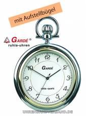 Klassische Taschenuhr bicolor Ziffernblatt weiß von Gardé (Ruhla) (*GD*TU*)