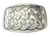Gürtelschließe Metall silberfarben Knoten-Motiv passend für Gürtelbreite 40 mm