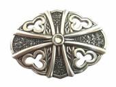 Gürtelschließe Metall silberfarben Glamour-Look passend für Gürtelbreite 40 mm