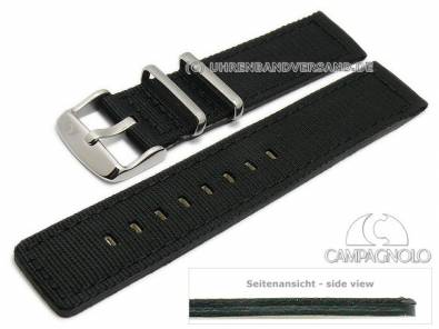 Military-look watch strap textile/leather by CAMPAGNOLO - Bild vergrößern