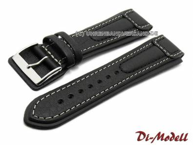 Aviator-Watch strap -Chronissimo- with leather pad under buckle by DI-MODELL - Bild vergrößern