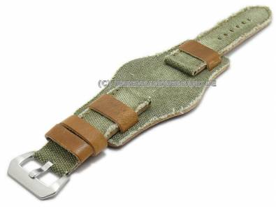Rustic watch bands with vintage-look made of leather/textile diverse designs from the Rock!t Collection - Bild vergrößern