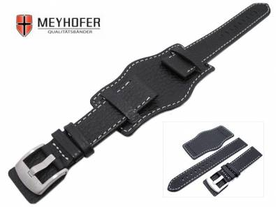 Watch strap with leather pad -Tempelhof- stitching from MEYHOFER - Bild vergrößern