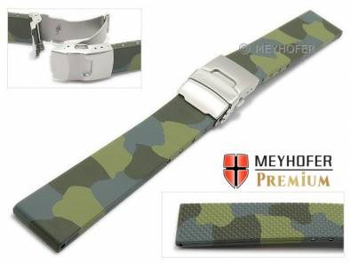 MySportivo-01: Sporty watch straps with clasp caoutchouc sporty design from Meyhofer MADE IN EUROPE - Bild vergrößern
