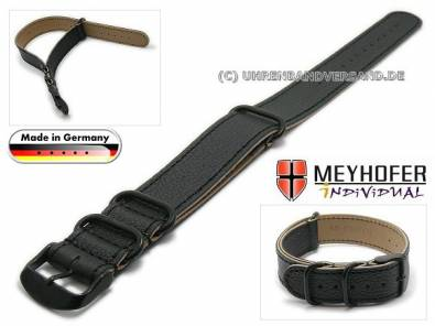 MyAventura-01: Watch straps NATO - Style one piece from Meyhofer in various styles MADE IN GERMANY - Bild vergrößern
