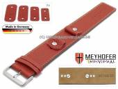 Watch strap Kassel Classic 14-16-18-20mm multiple ends red leather grained light stitching leather pad MEYHOFER