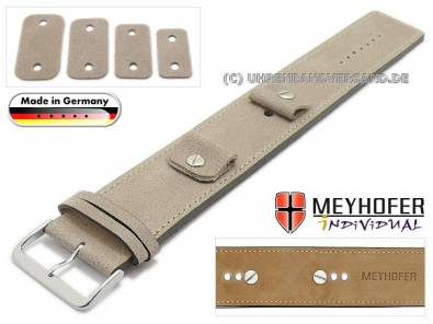 MyAventura-03: Meyhofer leather pad watch straps with multiple ends MADE IN GERMANY - Bild vergrößern
