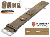 Watch strap Magdeburg 14-16-18-20mm multiple ends beige leather antique look light stitching leather pad MEYHOFER