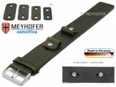 Watch strap Starnberg 14-16-18-20mm multiple ends dark green antique look vegetable tanned leather pad MEYHOFER