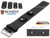 Watch strap Starnberg 14-16-18-20mm multiple ends black leather antique look vegetable tanned leather pad MEYHOFER