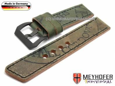Antique leather watch strap -Austin- cordovan leather black stitching from MEYHOFER - Bild vergrößern