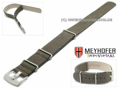 NATO-Watch band -Mendavia- antique look by MEYHOFER - Bild vergrößern