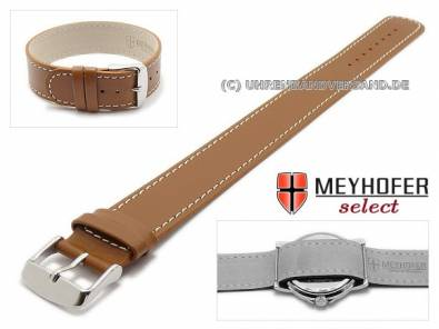 One-piece strap -Prag- colored stitching leather classic design from MEYHOFER - Bild vergrößern