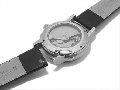 Meyhofer EASY-CLICK watch strap -Reka- 18mm black leather grained light stitching (width of buckle 18 mm) - Bild vergrößern
