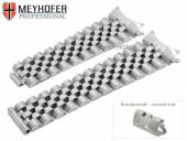 Watch strap Omaha 20mm stainless steel solid for Rolex partly polished by MEYHOFER