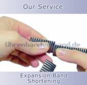 Service: Shortening of metal watch bands (expansion bands)