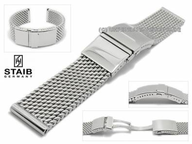 STAIB mesh watch straps made of stainless steel in various designs - Bild vergrößern