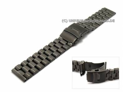 Black stainless steel watch bands in diverse designs - Bild vergrößern