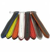 Multi-color watch strap  Paracatu sportiv design multi-colored stitching from MEYHOFER