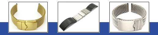 VOLLMER metal watch bands: Watch bands made of stainless steel, titanium etc
