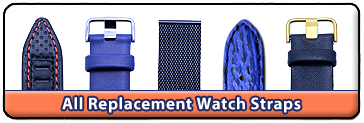 All Replacement Watch Straps, original and from third party manufacturers