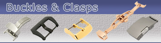 Watch strap clasps and buckles in a range of designs