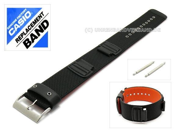 CASIO- replacement strap 16mm black textile one piece ...