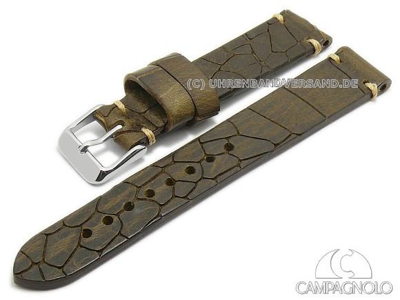 alligator grain antique look watch strap on watchbandcenter.com