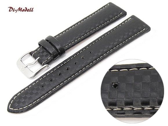 Feux de vos montres monté sur Carbon Hirsch DIM-1360-Carbonio-schw