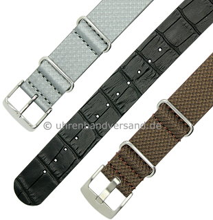 MyAventura-05: NATO- Style Meyhofer one piece watch straps in different designs