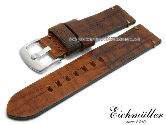 leather vintage look watch strap on watchbandcenter.com