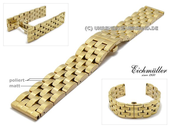 Watch band Em-MC092 from Eichmueller, butterfly clasp