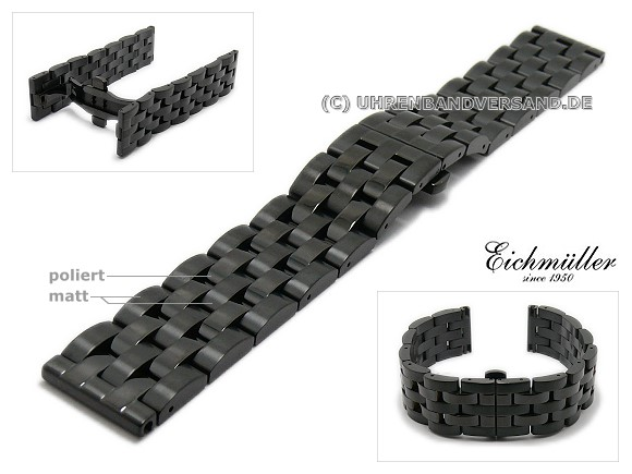 Watch band Em-MC091 from Eichmueller, butterfly clasp