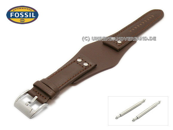 Replacement Watch Strap FOSSIL CH2565 22mm Dark Brown With