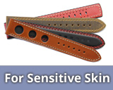 Sensitive skin watch straps