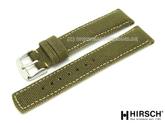 Canvas Strap Watch Watch Band Canvas 22mm Olive