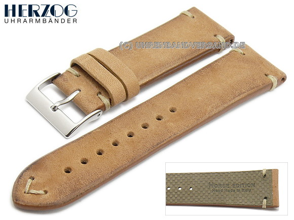Watch strap Vintage-Horse from Herzog, light brown