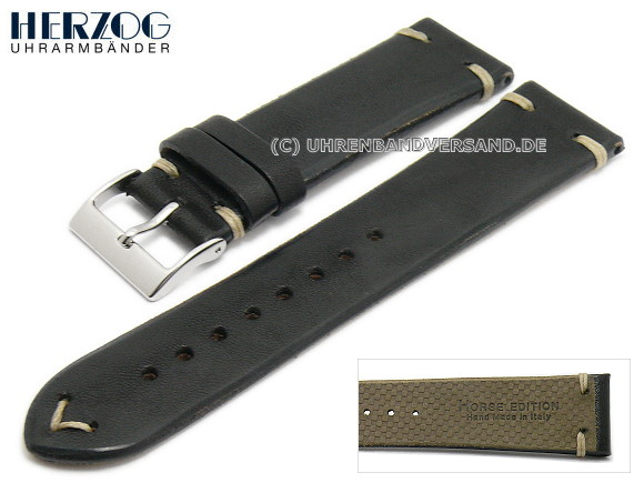 Watch strap Vintage-Horse from Herzog, black