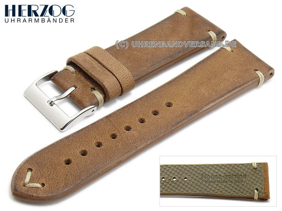 Watch strap Vintage-Horse from Herzog, brown