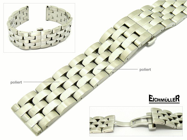 Watch band Em-MC090 from Eichmueller, butterfly clasp